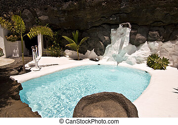 natação, piscina, Lanzarote, Espanha