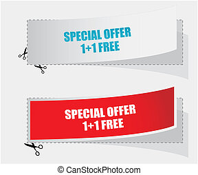 1 1 free labels - vector