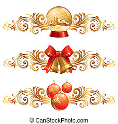 Christmas design elements & holiday symbols - vector illustration