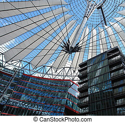 architecture around Potsdamer Platz - architectural detail...