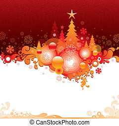 Abstract vector Christmas illustration