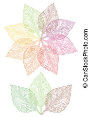 colorful leaf flower - colorful autumn leaves, vector...