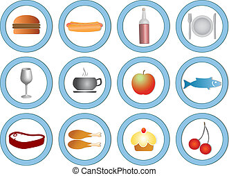 food icons, note style