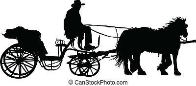 carruaje, Ilustración