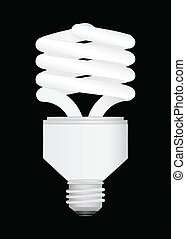 Energy Saving light bulb vector ill