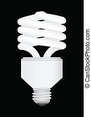 Energy Saving light bulb vector ill