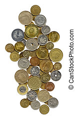 Wonderful collection of coins from different countries,...