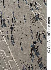 Venedig, Blick vom Campanile auf den Markusplatz