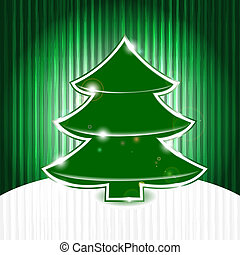 eps 10, vector christmas tree on abstract grunge background with stripes