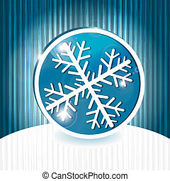 vector snowflake on abstract grunge background with stripes