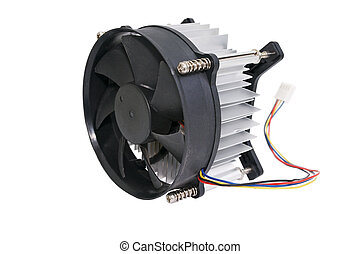 Computer cooler. - The cooling fan with heatsink computer...