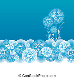 Abstract vector winter landscape