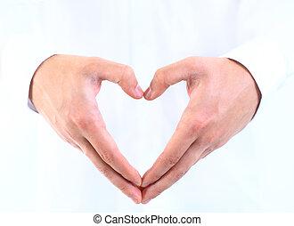Coração,  human, mão