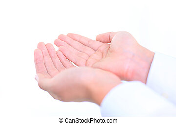 Open hands of a man - Open hands of a man
