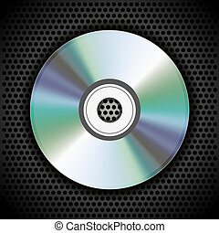 Vector CD on metal plate for your design