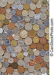 Big collection of various coins from different countries