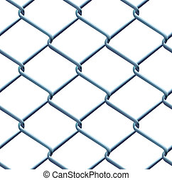 Seamless barbed wire pattern under bright day light