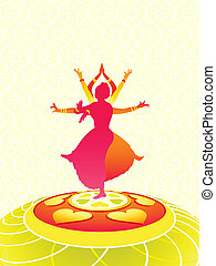 Onam greetings - Dancing women greeting card for Onam...