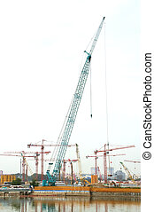 Constrution Site - A Construction Site beside the river bank...