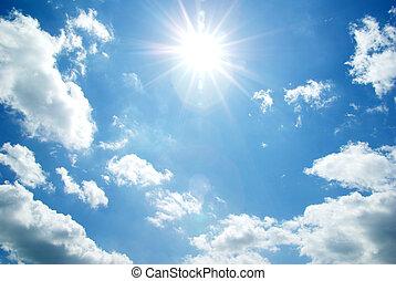 sky - White clouds in blue sky