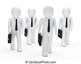 business men team run