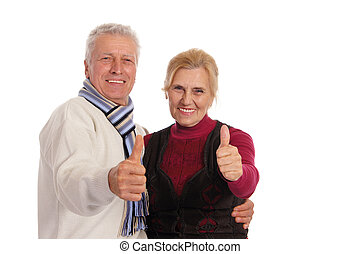 old couple posing