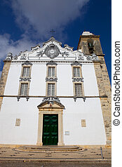 church - typical portuguese church in Olhao, Algarve,...