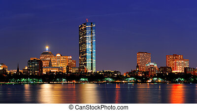 Boston Charles River at dusk