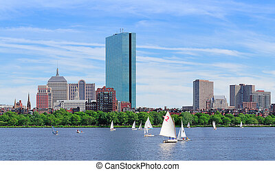 Boston Charles River panorama