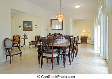 Dining Room - View of a beautiful classic rich dining room...