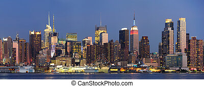 New York City Manhattan at dusk