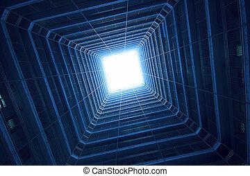 cuadrado, edificio, azul, tono, marca, Ciencia,...