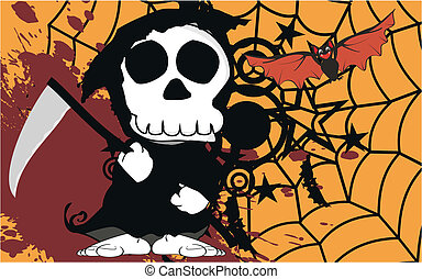 funny dead cartoon background7