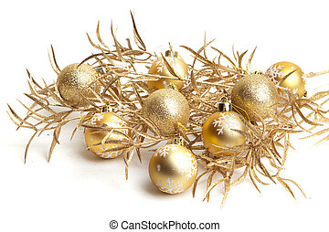 Christmas decorations white background winter xmas