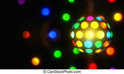 Retro Disco Ball - A spinning 70%u2019s retro disco ball.