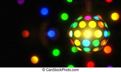 Retro Disco Ball - A spinning 70%u2019s retro disco ball.