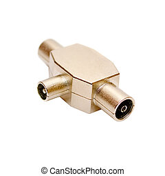Aerial splitter isolated on a white background