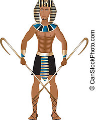 Egyptian Carnival Costume - Vector Illustration of a man...