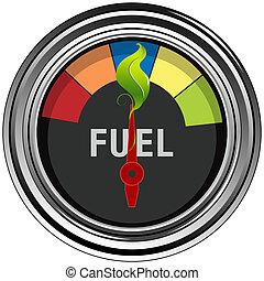 燃料, 緑, ゲージ