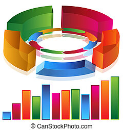 Productivity Bar Chart - An image of a 3d productivity bar...