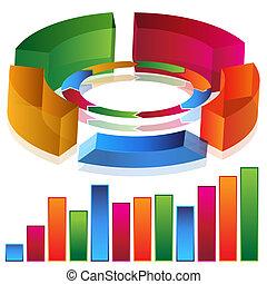 productividad, barra, gráfico