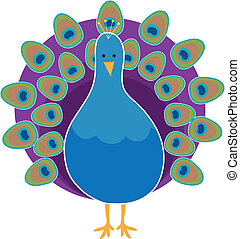 Peacock - A stylized peacock with it's feathers fully...