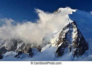 Mont Blanc du Tacul in Alps, France - Mont Blanc du Tacul...