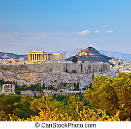 View on Acropolis in Athens - View on Acropolis, Athens,...