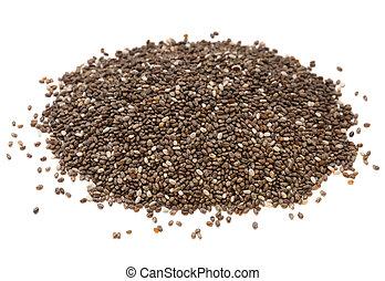 chia, semente, pilha