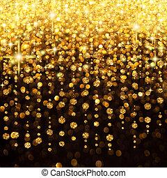 pluie, lumières, noël, ou, fête, fond