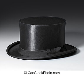 magic stovepipe hat - symbolic picture with a black top hat...