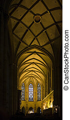 inside cathedral in Colmar