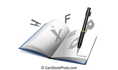 Video book or notebook and pencilci - Book or notebook with...