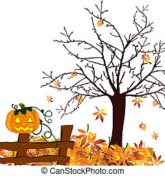 autumn design - halloween - vector illustration of a pumpkin...